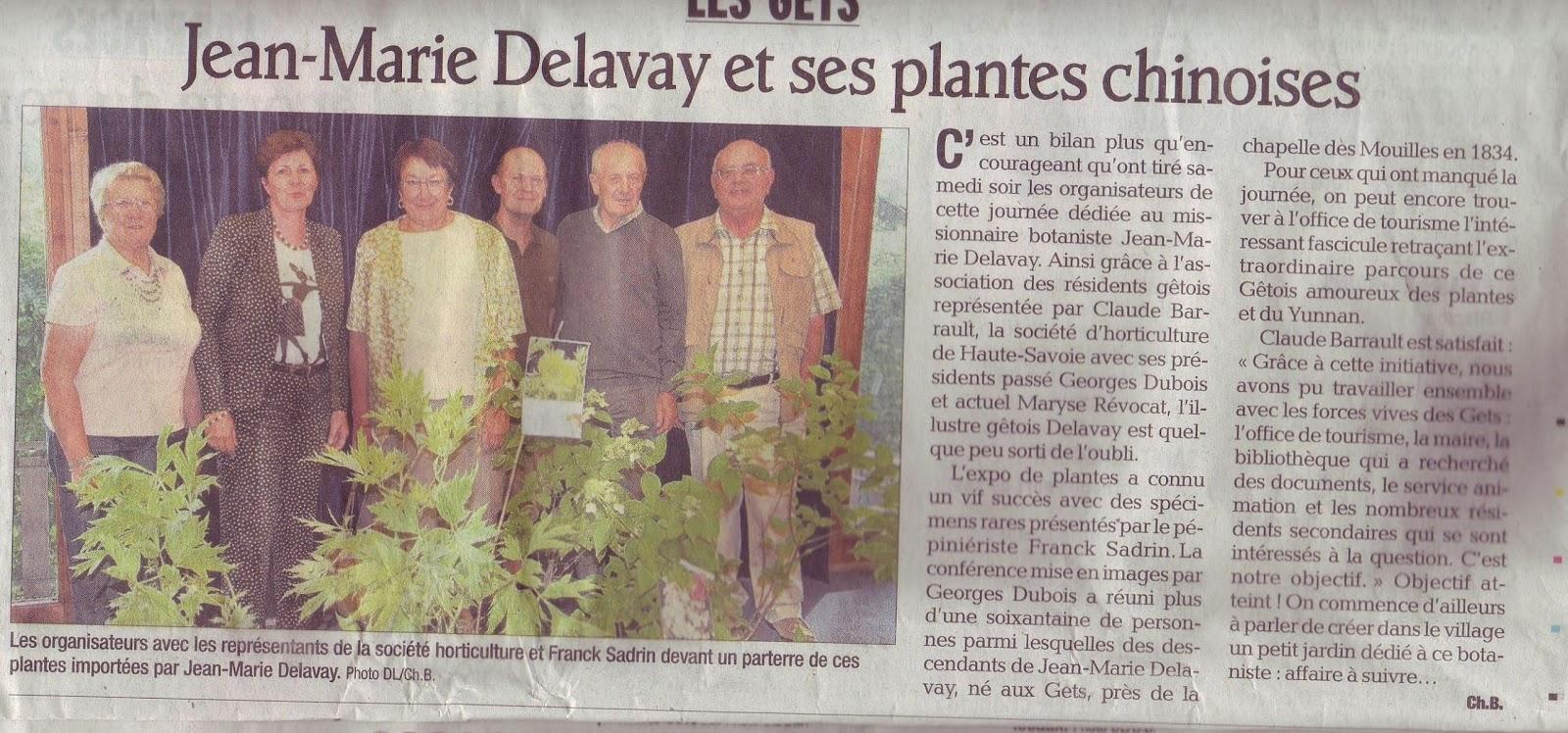 Jean Marie Delavay et ses plantes chinoises